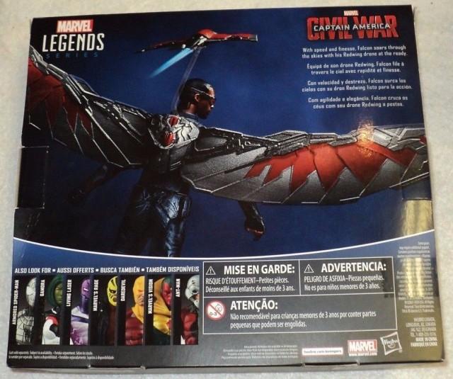 Box Back Marvel Legends Civil War Falcon Figure