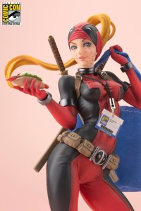 Close-Up of Lady Deadpool SDCC 2016 Exclusive Kotobukiya Bishoujo Statue