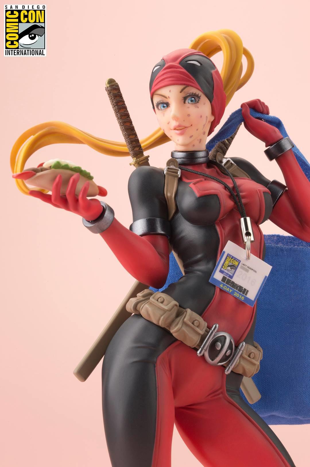 Marvel Bishoujo Statue LADY DEADPOOL 2016 SDCC EXCLUSIVE MIMB Kotobukiya Details about  /RARE