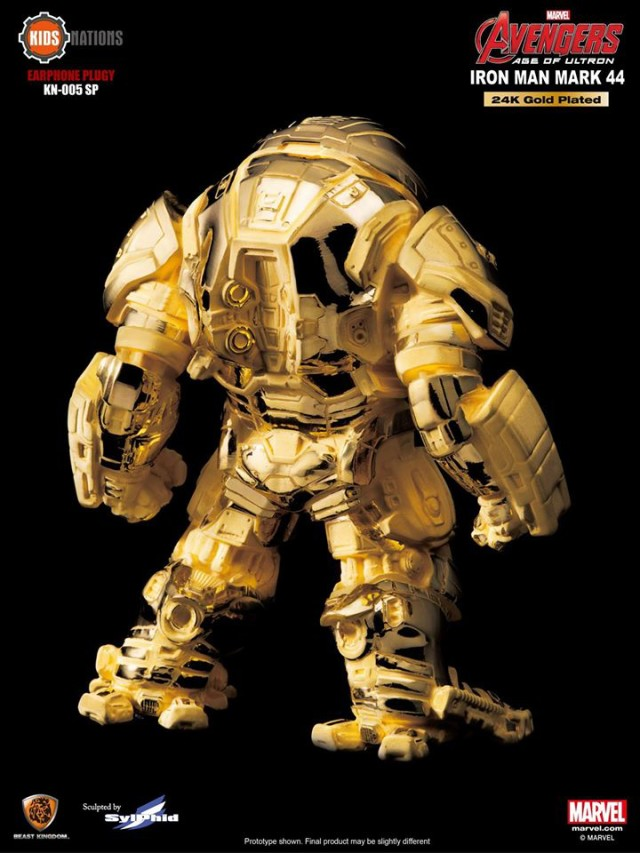 Comic Con Exclusive 24K Gold Iron Man Mark 44 Hulkbuster Figure