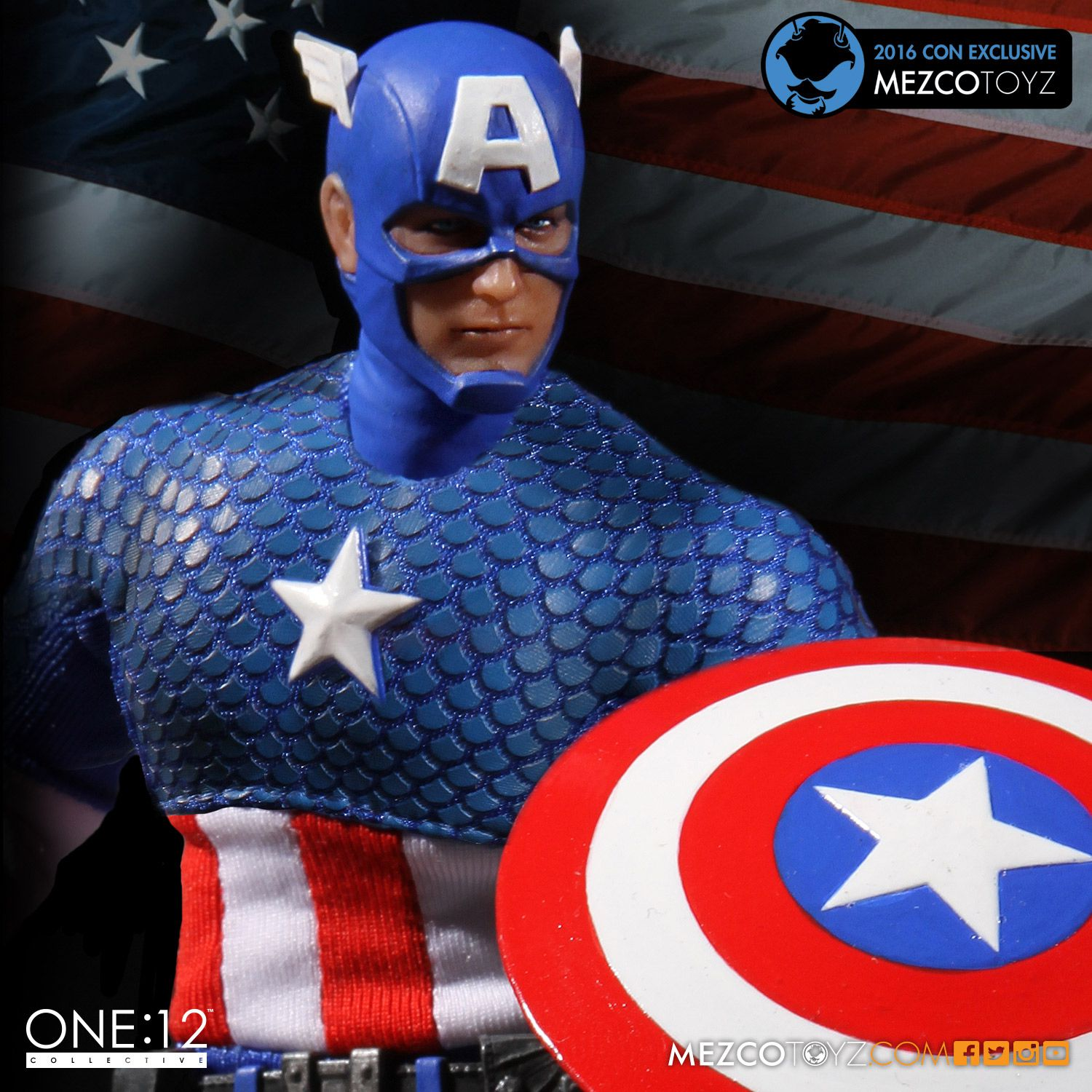 SDCC Exclusive Marvel One:12 Collective Action Figure Classic Captain America