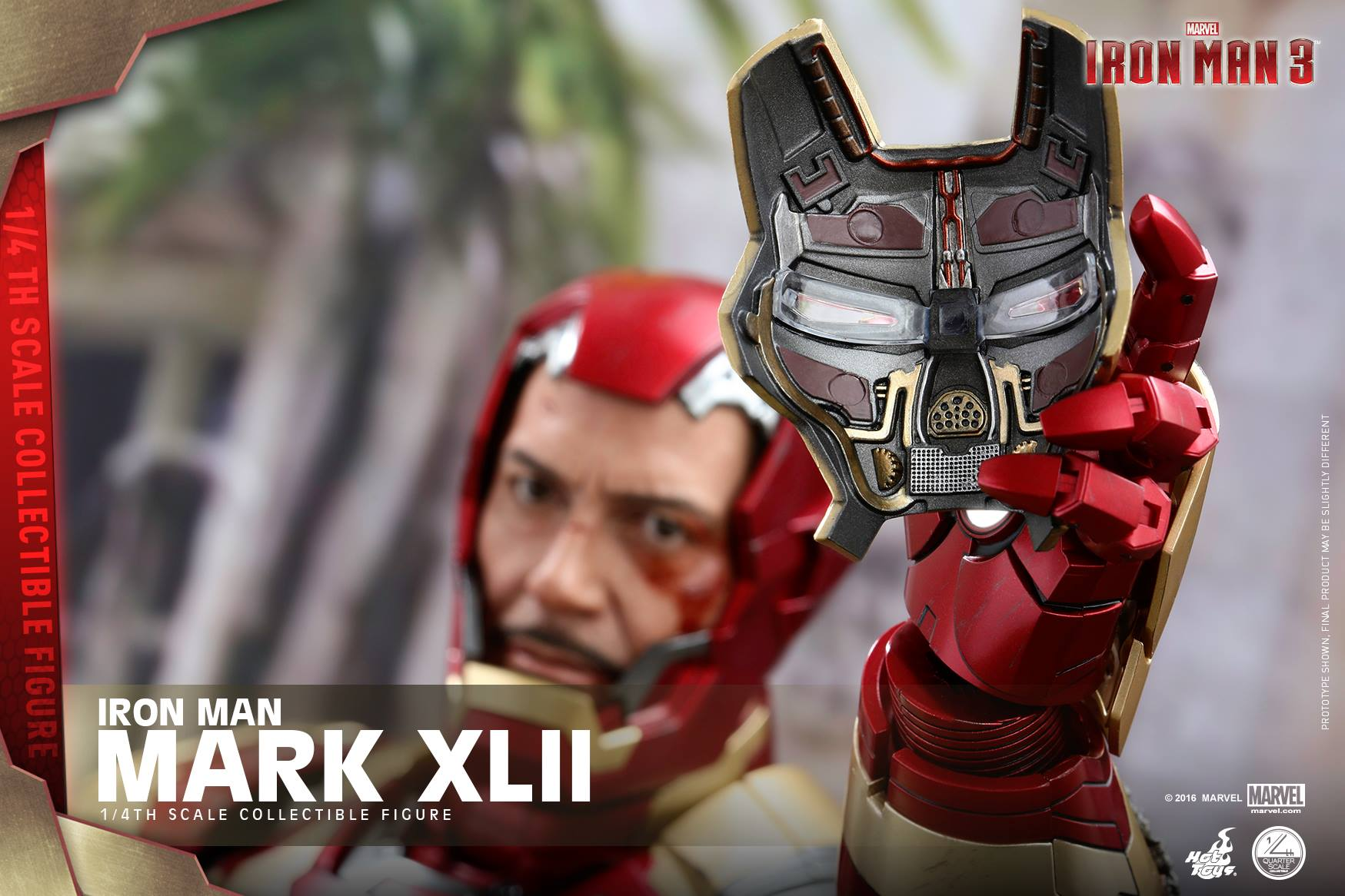 hot toys iron man mark 42 quarter scale figure revealed