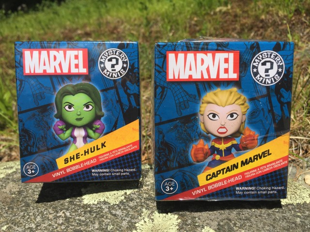 Women of Power Mystery Minis She-Hulk and Captain Marvel