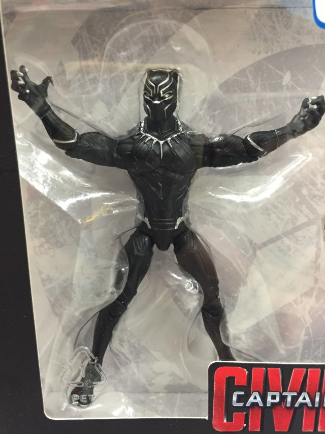 """Marvel Legends 4"""" Black Panther Figure Close-Up"""