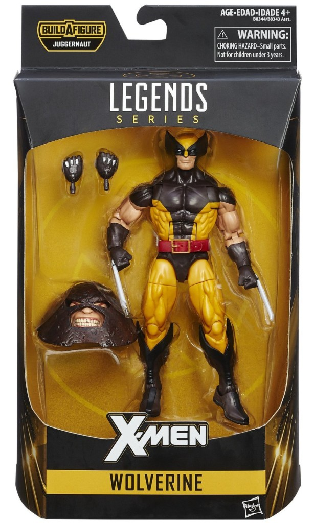 Marvel Legends Brown Costume Wolverine Packaged with Juggernaut Head