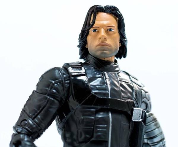 Marvel Legends Civil War Bucky Figure Close-Up