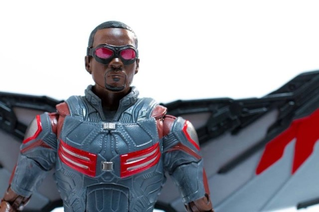 Marvel Legends Civil War Falcon Figure Close-Up