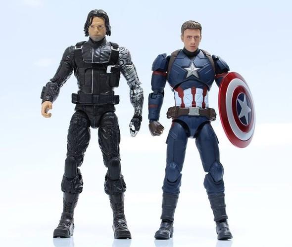 Marvel Legends Civil War Winter Soldier Size Comparison SH Figuarts Captain America