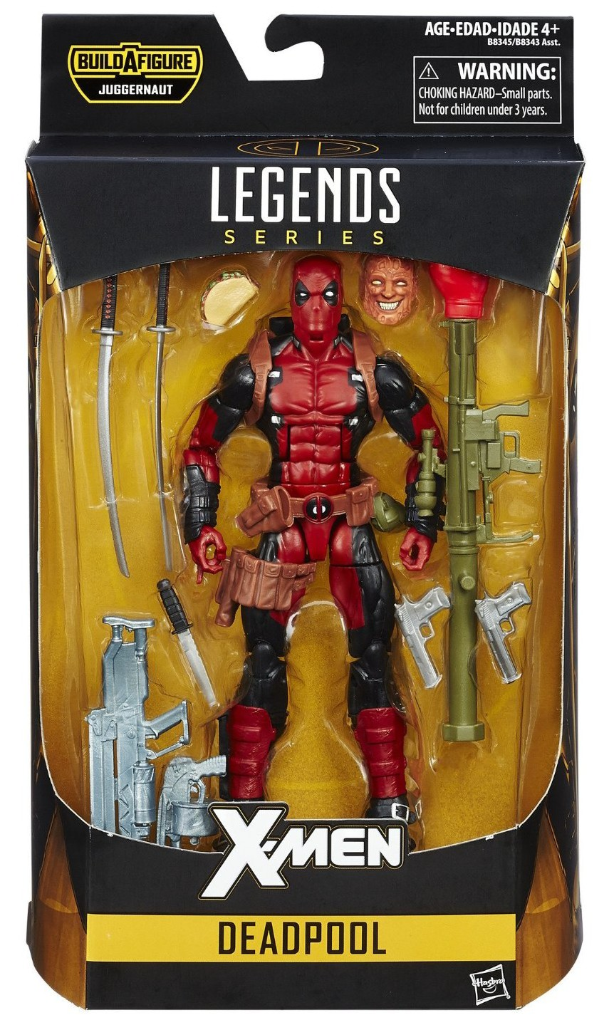 4/'/' Marvel Universe X-Men Blue Deadpool Wade Wilson Loose Action Figure Toy