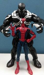 Marvel Legends Space Venom Build-A-Figure Size Scale Comparison Photo