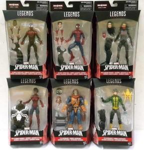 Marvel Legends Spider-Man Space Venom Series Packaged