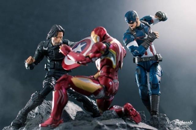 Marvel Legends Walmart Exclusive Winter Soldier vs Iron Man Captain Americs