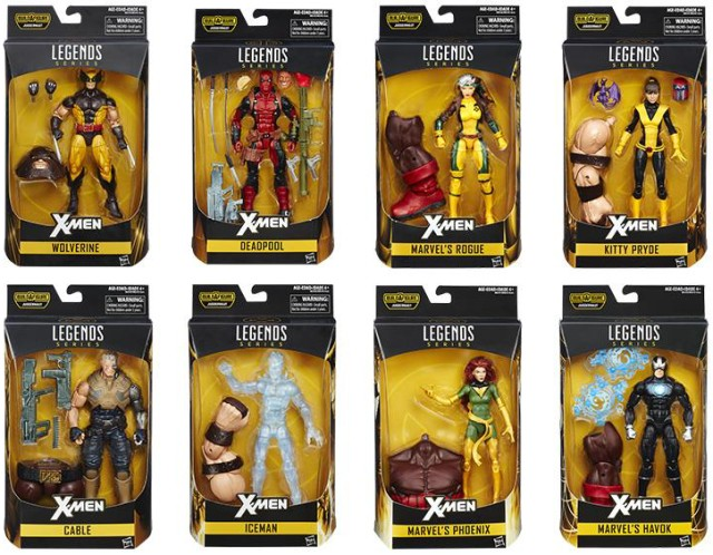 Marvel Legends X-Men Series Figures Packaged