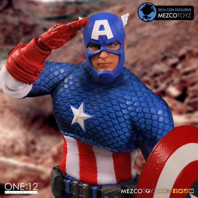 ONE 12 Collective Deluxe Classic Captain America Figure SDCC Exclusive
