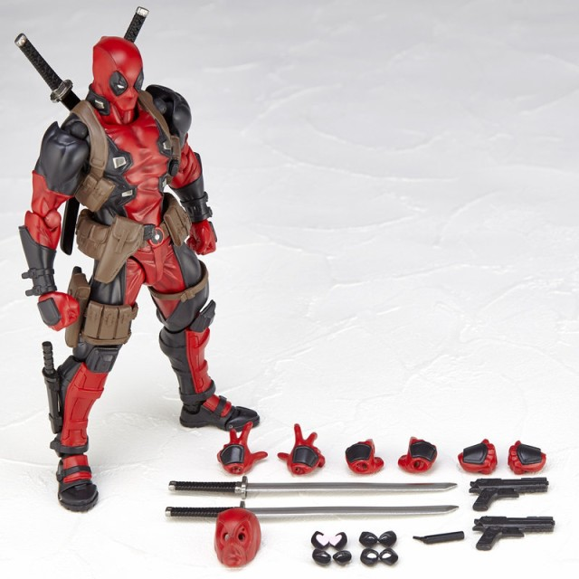 Revoltech Deadpool Figure and Accessories