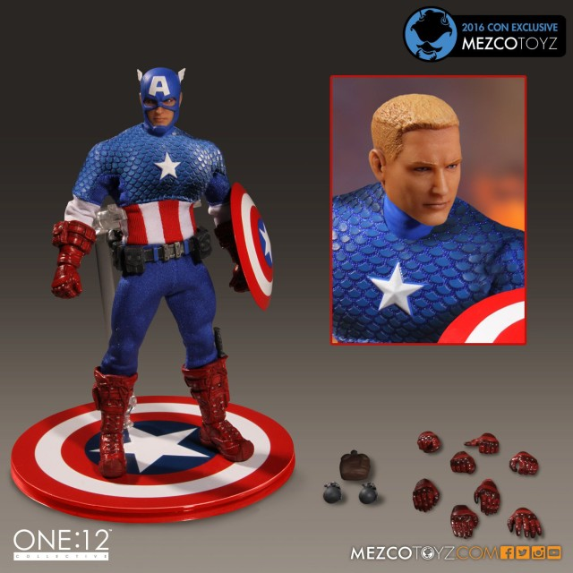 SDCC 2016 Exclusive One 12 Collective Deluxe Classic Captain America Figure