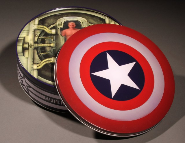 SDCC Exclusive ONE 12 Collective Captain America Collectible Tin Packaging