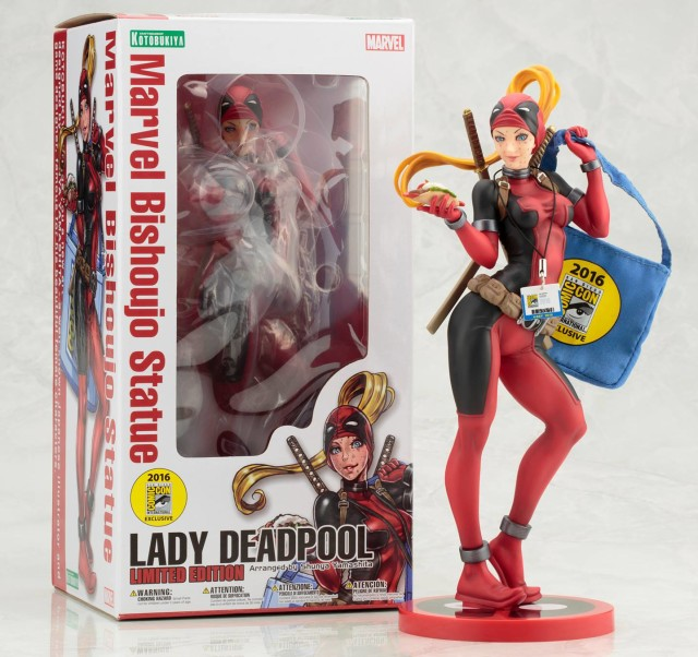 San Diego Comic Con Exclusive Bishoujo Lady Deadpool Statue Packaging