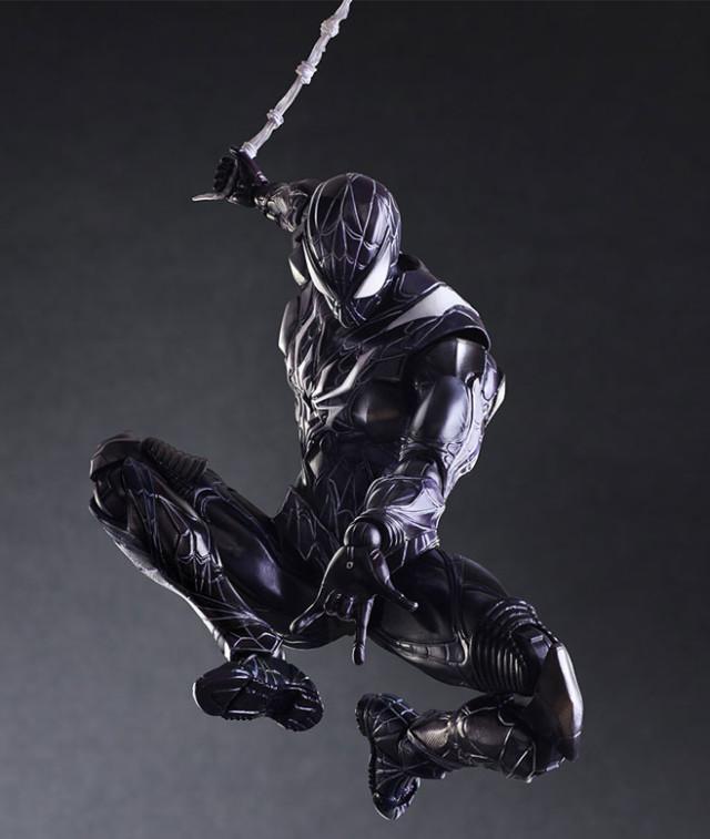 Square-Enix Play Arts Kai Variant Spider-Man Black Costume Figure