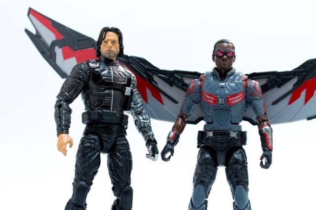 Walmart Marvel Legends Civil War Falcon and Winter Soldier Figures