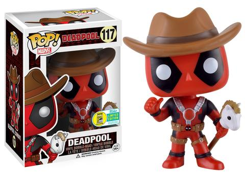Cowboy Deadpool POP Vinyls Figure SDCC 2016 Exclusive