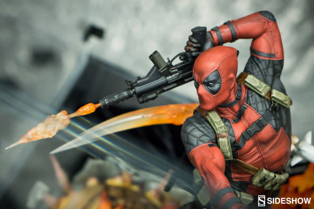 Deadpool Premium Format Statue at San Diego Comic Con 2016