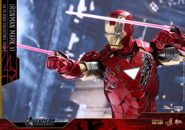 Die-Cast Mark 6 Iron Man Hot Toys Figure Shooting Lasers
