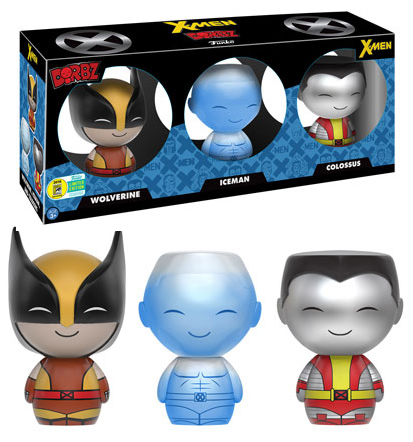 Funko X-Men Dorbz Three-Pack SDCC 2016 Exclusive Wolverine Iceman Colossus