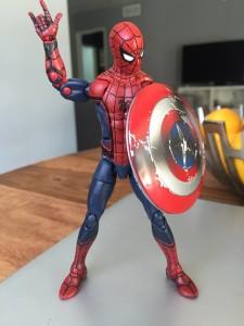 Hasbro Civil War Spider-Man Marvel Legends 6 Inch Figure with Cap's Shield