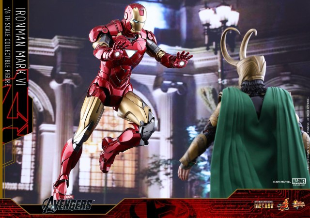 Hot Toys Avengers Loki vs. Iron Man Mark VI Die-Cast