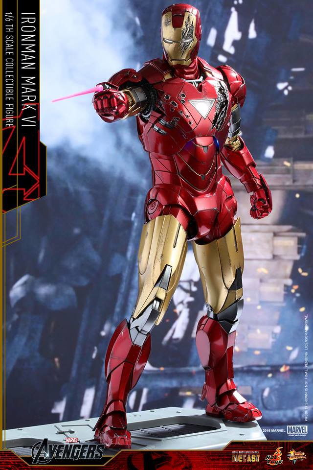 Hot Toys Battle Damaged Iron Man Mark 6 MMS Shooting Lasers