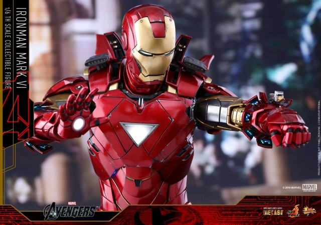 Hot Toys Die-Cast Iron Man Mark 6 Sixth Scale Figure Light-Up Features
