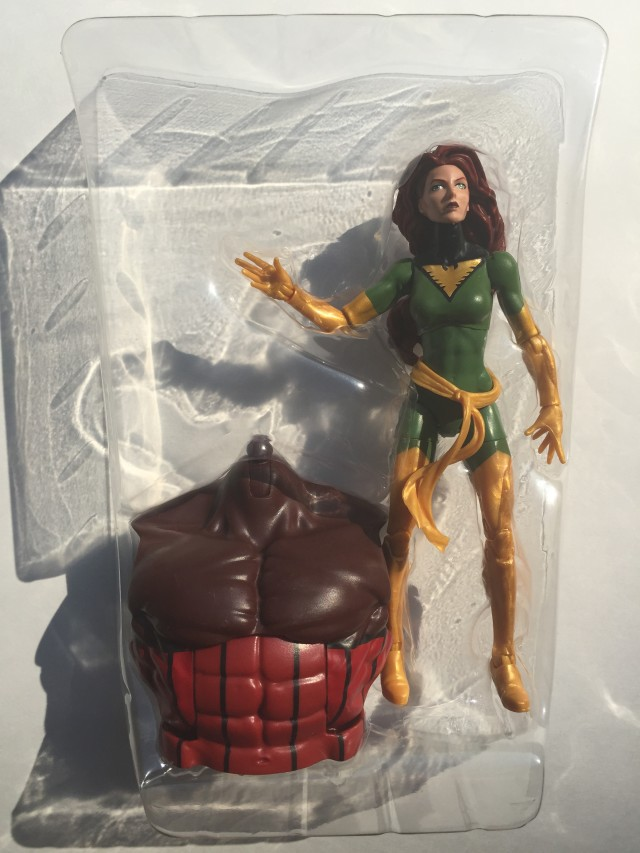 Phoenix Marvel Legends Figure with Juggernaut Torso in Bubble