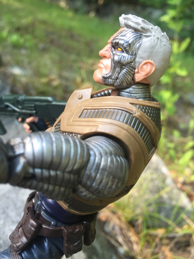 Metal Side of Cable Marvel Legends Figure's Head