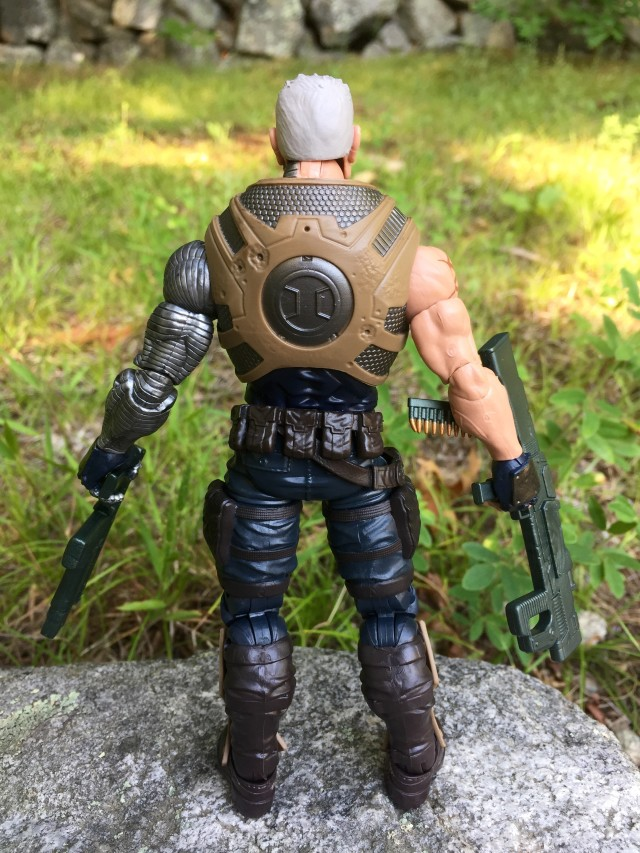 Back of Marvel Legends Cable 6 Inch Figure