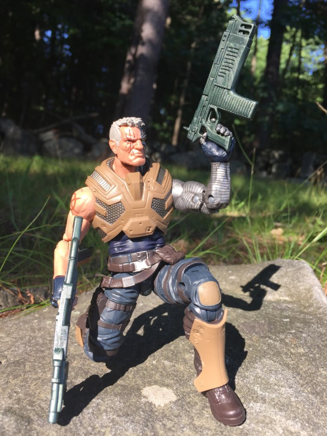 Marvel Legends Cable Six Inch Figure Crouching