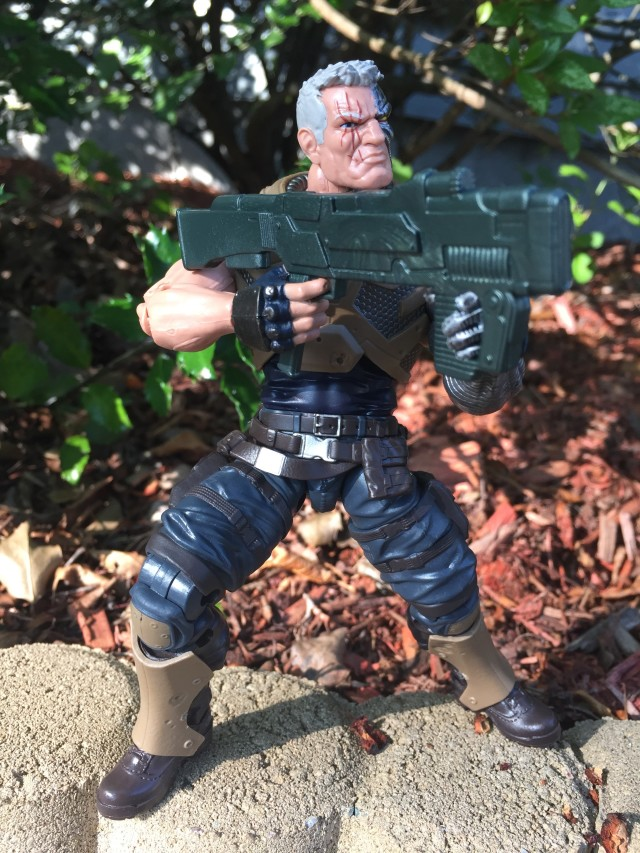 "Marvel Legends X-Men Cable 6"" Figure Holding Gun Two-Handed"