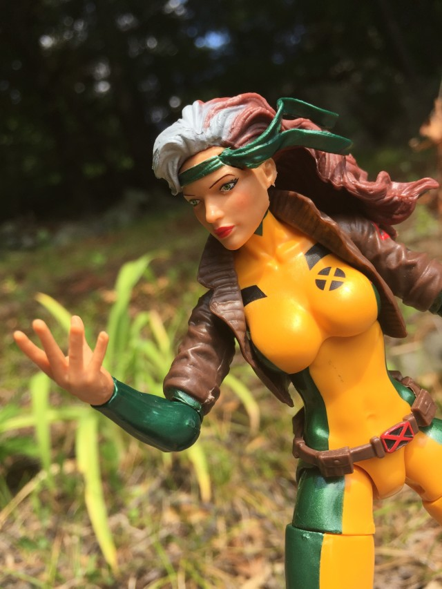 Marvel Legends Rogue Figure Looking at Ungloved Hand