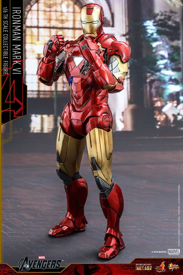 Iron Man Mark 6 Die-Cast Hot Toys Movie Masterpiece Series Figure