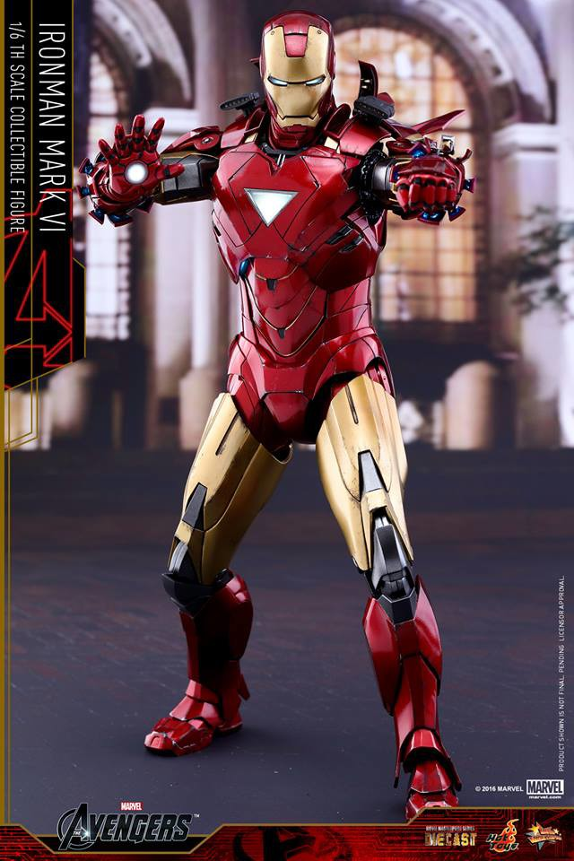 Iron Man Mark VI Die-Cast Hot Toys MMS Figure