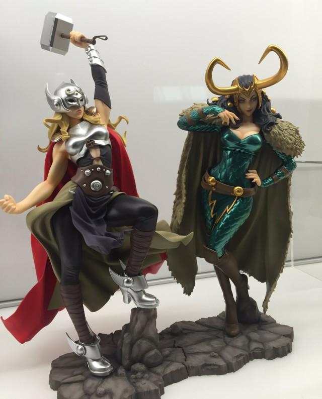 Kotobukiya Bishoujo Lady Thor and Loki Statues SDCC 2016