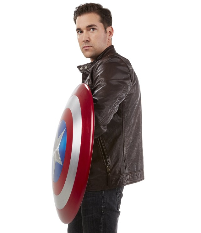 Life-Size Captain America Metal Shield Marvel Legends Toy