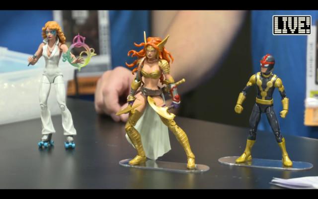 Marvel Legends 2017 Dazzler Angela Kid Nova Figures