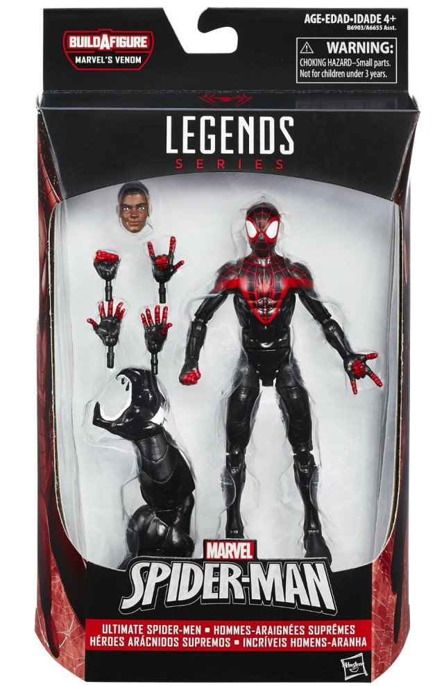 Marvel Legends Miles Morales Spider-Man Figure Packaged