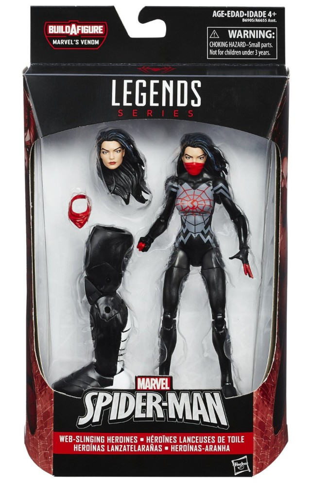 Marvel Legends Spider-Man Silk Figure Packaged