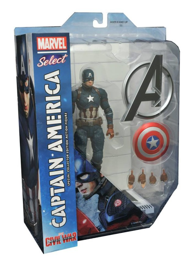 Marvel Select Civil War Captain America Figure Packaged