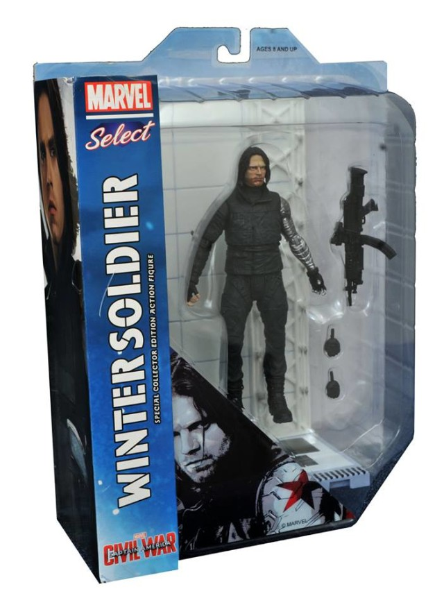 Marvel Select Civil War Winter Soldier Figure Packaged