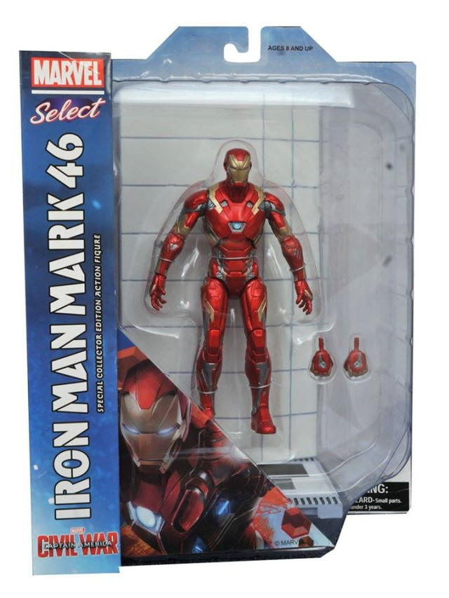 Marvel Select Iron Man Civil War Figure Packaged