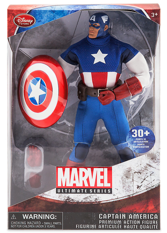 Marvel Ultimate Series Captain America Figure Packaged