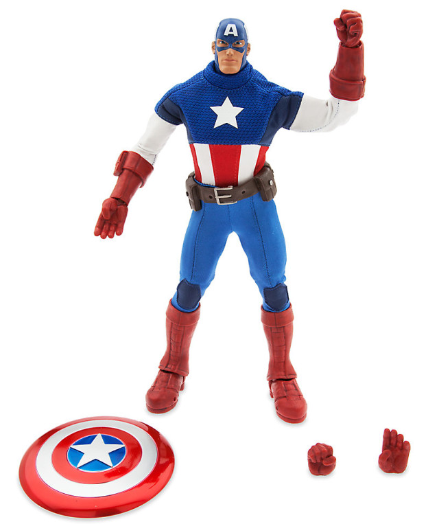 Marvel Ultimate Series Premium Figure Captain America and Accessories